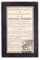 DP Frederik B. Bouckenooghe ° Geluwe Wervik 1827 † Brugge 1900 X Adèle Termote Xx Judith Delarue - Devotion Images
