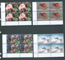 Cook Islands 2010 Shanghai Expo Environmental Awareness Set 4 Matched Corner Blocks Of 4 MNH - Cook Islands
