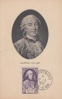 Carte  Maximum    FRANCE    BUFFON      MONTBARD    1950 - Cartes-Maximum