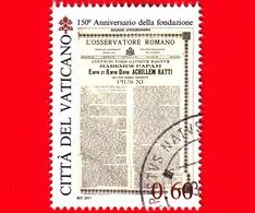 VATICANO - Usato - 2011 - 150 Anni Dell'Osservatore Romano - 0,60 - Habemus Papam - Pio XI - Vaticano
