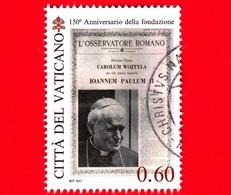 VATICANO - Usato - 2011 - 150 Anni Dell'Osservatore Romano - 0,60 - Habemus Papam - Giovanni Paolo II - Vaticano