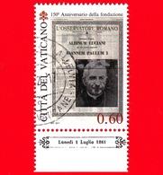 VATICANO - Usato - 2011 - 150 Anni Dell'Osservatore Romano - 0,60 - Habemus Papam - Giovanni Paolo I - Vaticano