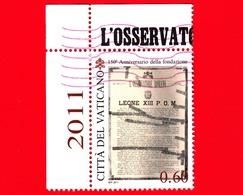 VATICANO - Usato - 2011 - 150 Anni Dell'Osservatore Romano - 0,60 - Habemus Papam - Leone XIII - Vaticano