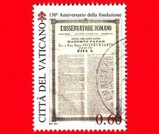 VATICANO - Usato - 2011 - 150 Anni Dell'Osservatore Romano - 0,60 - Habemus Papam - Pio X - Vaticano