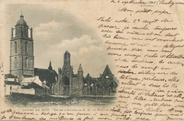 Bourg De Batz  Eglise Et Ruines  Pionniere Type Groupe 1901 Dos Non Divisé - Batz-sur-Mer (Bourg De B.)