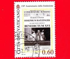 VATICANO - Usato - 2011 - 150 Anni Dell'Osservatore Romano - 0,60 - Habemus Papam - Benedetto XVI - Vaticano