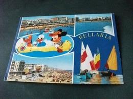 PLUTO PAPERINO TOPOLINO IN CANOA  VEDUTE BELLARIA  VELE EMILIA ROMAGNA DISNEY - Disney