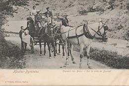 CPA Capvern-les-Bains Sur La Route Du Bouridé - Animée - Other Municipalities
