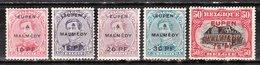 OC56/60*  Timbres De 1915 Surchargé EUPEN & MALMEDY - Bonnes Valeurs - MH* - LOOK!!!! - Guerre 14-18