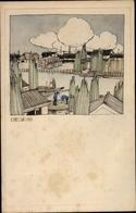 Artiste Cp Japan, Ortschaft, Häuser, Boote - Altri