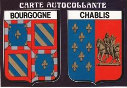 CARTE AUTOCOLLANTE ,BOURGOGNE CHABLIS  REF 60811 - Chablis