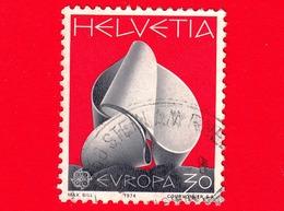 SVIZZERA - Usato - 1974 - Europa - Scultura - Continuità Di Max Bill - C.E.P.T. - 30 - Usati