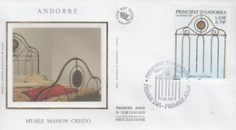 Enveloppe  FDC  1er  Jour   ANDORRE   Musée   CASA  CRISTO    2001 - FDC