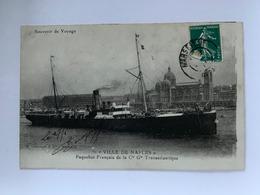 Ville De Naples - Paquebot Français De La Cie Gle Transatlantique - Napoli (Nepel)