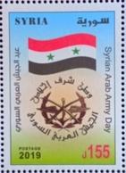 Syria 2019 NEW MNH Stamp - Army Day - Flag - Syria