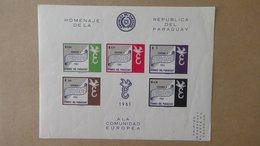 Beau Bloc EUROPA ** NON DENTELE De 1961 A Saisir !!! - 1961