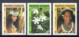 POLYNESIE - YT N° 371 à 373 - Neufs ** - MNH - Cote: 3,15 € - Neufs