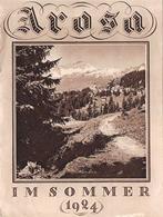 Arosa Im Sommer 1924 - 14 Photos - 4 Seiten - (16 X 12 Cm )  Graubunden - Schweiz - Tourism Brochures