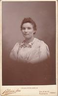 Photo. C.D.V. : Portrait De Femme  : N° 34300 : Photographie - BLAIN Fréres  - Valence - Drome ( Tranche Dorée ) - Alte (vor 1900)
