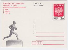 Poland Postal Stationary 1952 Helsinki Olympic Games - Polish Results From 1981 Mint (T13-41) - Sommer 1952: Helsinki
