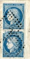 SAINT DENIS Env. Du 25/07/1873 Avec Varieté Grande Cassure Sur N°21 En Paire  Cachet Transit Pothion N°1864 Sur LSC - Réunion (1852-1975)