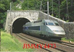 "CPM - Le TGV. R. Rame 4501, "" Alessandro Manzoni "" Paris-Lyon - Milano-Centrale Tunnel De La Madeleine - Photo R. GIBIAT - Treni"