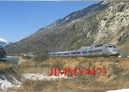 "CPM - Le TGV - R. Rame 4506 "" Alessandro Manzoni "" Paris-Lyon - Milano-Centrale - La Praz (73) - Photo R. GIBIAT - Treni"