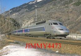 "CPM - Le TGV - R. Rame 4506 "" Alessandro Manzoni "" Paris-Lyon - Milano-Centrale, Passe Près La Praz (73) Photo R. GIBIAT - Treni"