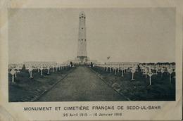 Sedd Ul Bahr (Sedd El Bahr) Turquie // Monument Et Cimetiere Francais 1930 - Cimetières Militaires