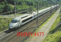 """CPM - Le TGV - R. Rame 4501 """" Jean Giono """" Milano-Centrale, Paris-Lyon, Passe à Orelle-Prémont (73) Photo R. GIBIAT - Treni"""