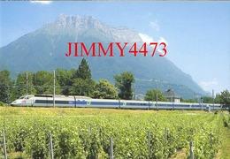 """CPM - Le TGV - R. Rame 4502 """" Alexandre Dumas """" Milano-Centrale, Paris-Lyon, St-Jean-de-la-Porte (73) Photo R. GIBIAT - Treni"""