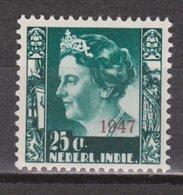 Nederlands Indie 327 MLH ; Koningin, Queen, Reine, Reina Wilhelmina Netherlands Indies PER PIECE - Nederlands-Indië