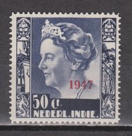 Nederlands Indie 329 MLH ; Koningin, Queen, Reine, Reina Wilhelmina Opdruk 1947 NETHERLANDS INDIES PER PIECE - Nederlands-Indië