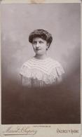 Photo. C.D.V. : Portrait De Femme : Photographie - M. ST-SUPERY - Valence - Drome - ( Tranche Argentée ) - Alte (vor 1900)