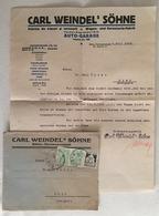 RAR Firmenbrief Karl Weindel Sibiu Hermannstadt 1928 Mit Original Unterschrift - Rechnungen