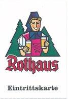 BRD Grafenhausen-Rothaus Eintrittskarte Brauerei Rothaus - Eintrittskarten