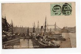 London Port 1907 TUCK'S POST CARD N.2002 - River Thames