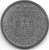 *notgeld Iserlohn 10 Pfennig  1917  Zn   6707.2a /  F228.2a - Autres