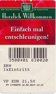 BRD Mainau - Bodensee Eintrittskarte 2019 Blumeninsel Mainau - Eintrittskarten
