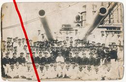 Original Foto - SMS Goeben - Besatzung August 1916 - Erinnerung An Durchbruch Bei Messina 1914 - Warships