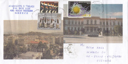 GOOD GREECE Postal Cover To ESTONIA 2019 - Good Stamped: National Costumes / Army ; Lighthouse ; Sea - Greece