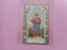 DEVOTIE-PRENTJE JESUS SAUVEUR DU MONDE - Religione & Esoterismo