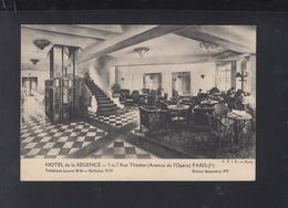 Carte Postale Hotel De La Regence Paris 1927 - Cafés, Hotels, Restaurants