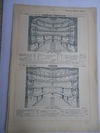 Liste Et Plans Des Salles De Théâtres De Paris Comédie Française Odéon Opéra Bouffes-Parisiens Apollo - Cabarets Bals - Planes Técnicos