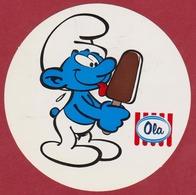Sticker Strip Stripfiguur Smurf Schtroumpfs Schtroumpf Ola ICE CREAM Los Pitufos Peyo Bande Dessinée Autocollant - Autocollants