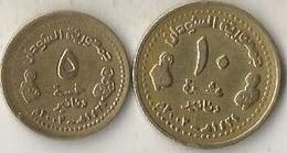 Sudan - 5& 10 Dinars - 2003 AH 1424 - Km 119 & 120 - UNC - Agouz - Sudan