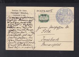 Dt. Reich Dienst-PK Seminar Für Klass. Philologie München 1922 - Oficial