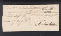 Österreich Faltbrief Bregenz 1837 - Österreich