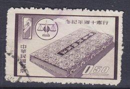 Taiwan 1958 Mi. 315    0.50 ($) Verfassung Scale Waage Wahlurne - Gebraucht
