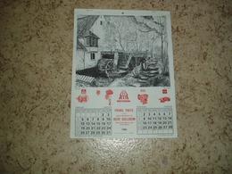 Calendrier 1981 Frans Theys Gullegem (moulin Mullem, Sint-Denijs Boekel, Huise, Leupegem, Ladeuze Etikhove) - Calendriers